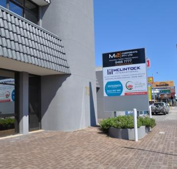Mclintock signage outside Perth office